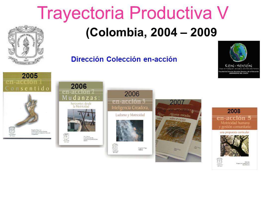 Trayectoria Productiva V (Colombia, 2004 – 2009 Dirección Colección en-acción 2005 2006 2007 2008