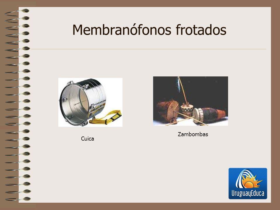 Membranófonos frotados Cuica Zambombas