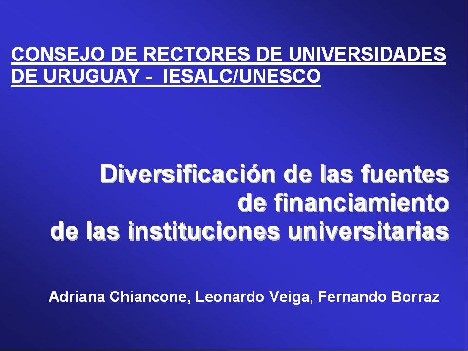 Diversificación Servicios de las universidades: enseñanza, investigación y desarrollo.