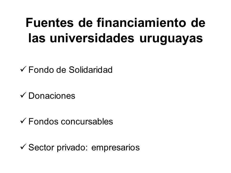 Fondo de Solidaridad Donaciones Fondos concursables Sector privado: empresarios