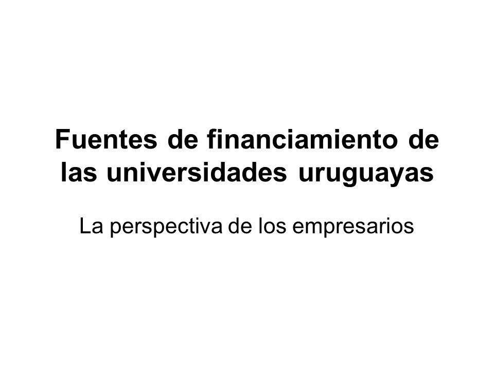 Fuentes de financiamiento de las universidades uruguayas La perspectiva de los empresarios