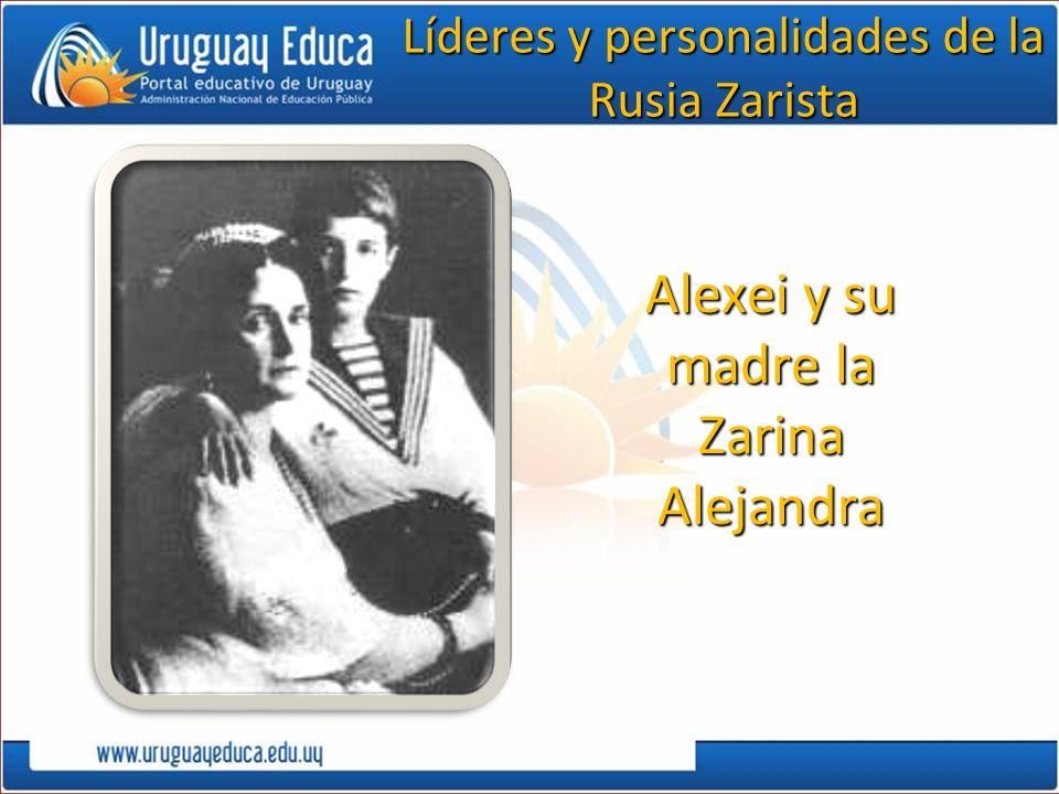 Alexei y su madre la Zarina Alejandra Líderes y personalidades de la Rusia Zarista