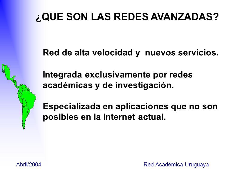 Proyecto CLARA-ALICE Inicio Cronología ----2002 Cronología----2003 Situación Actual Proyecto RED ACADEMICA URUGUAYA Inicio Cronología----2002 Cronología----2003 Situación Actual Diciembre/2003 Red Académica Uruguaya CONTENIDO DE LA PRESENTACIÓN