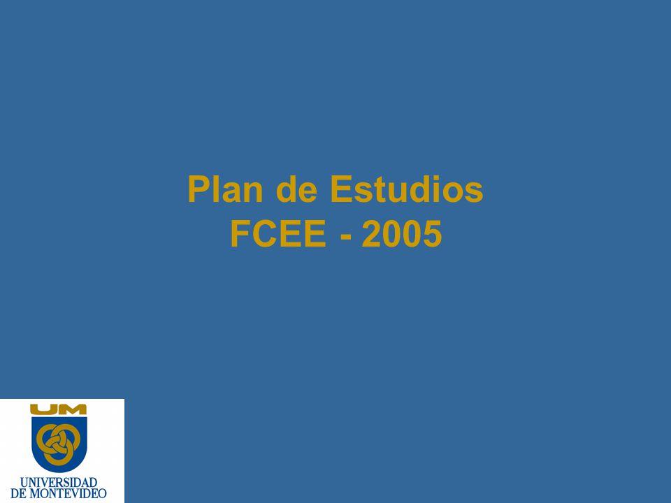 Plan de Estudios FCEE - 2005