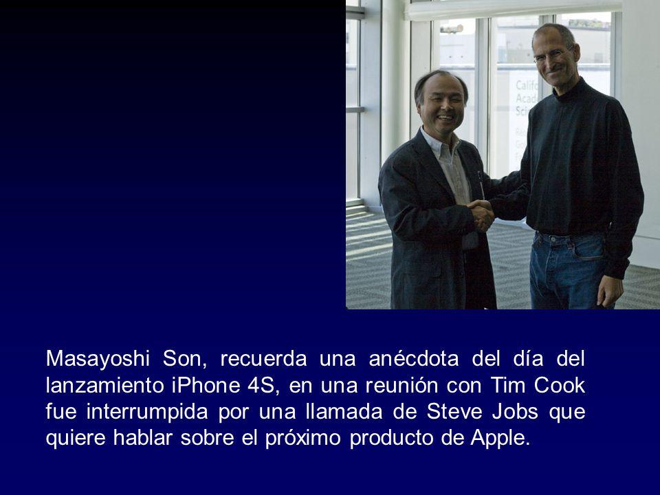 Masayoshi Son, recuerda una anécdota del día del lanzamiento iPhone 4S, en una reunión con Tim Cook fue interrumpida por una llamada de Steve Jobs que