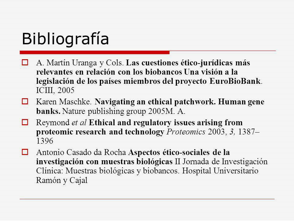 Bibliografía A. Martín Uranga y Cols.