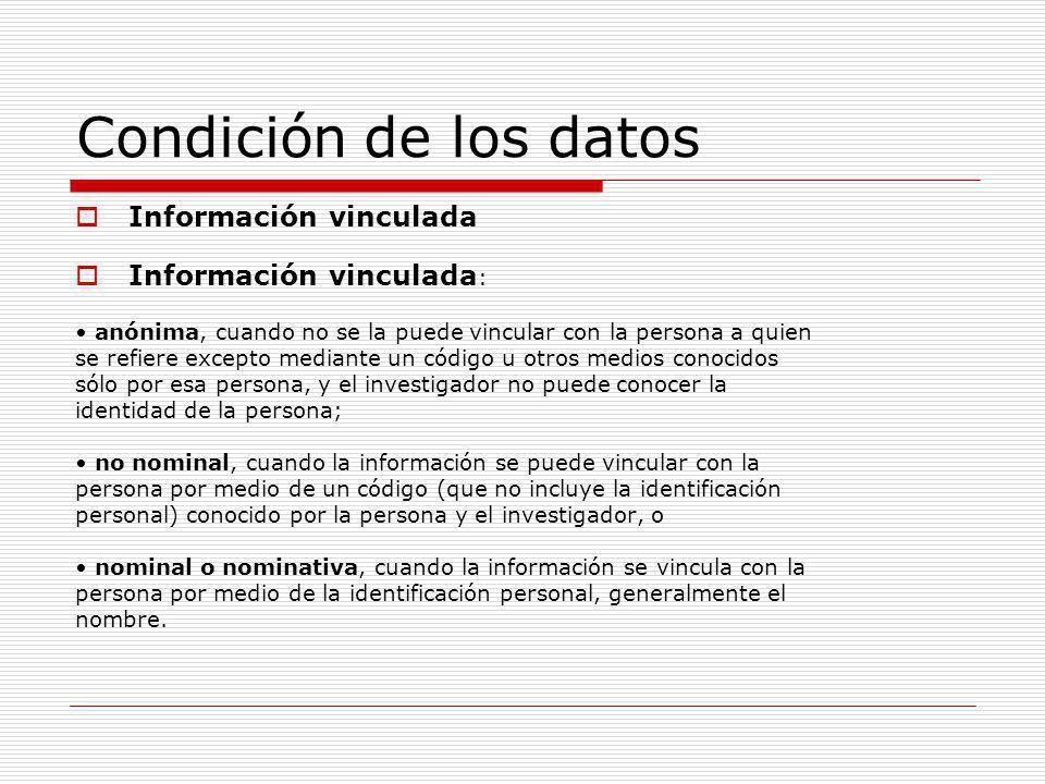 Principales problemas éticos Duración de la conservación de las muestras Comunicación de datos a terceros Derecho a no saber Descubrimientos inesperados Trasvase de muestras recogidas para diagnóstico o tratamiento (modificación de la finalidad) Participación en los beneficios