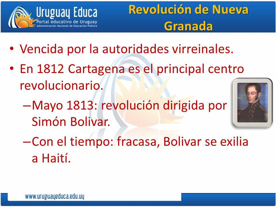 Revolución en Venezuela y Nueva Granada En Venezuela: hubo tres movimientos sucesivos.
