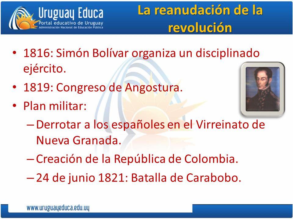 Revolución de Nueva Granada Vencida por la autoridades virreinales.