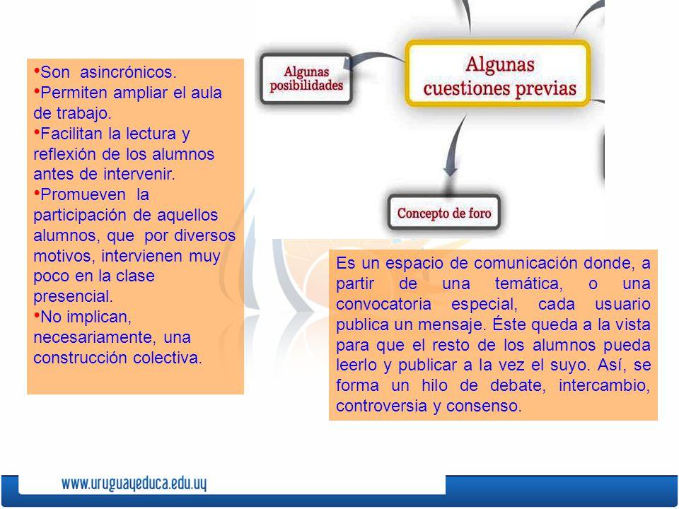 Es un espacio de comunicación donde, a partir de una temática, o una convocatoria especial, cada usuario publica un mensaje.