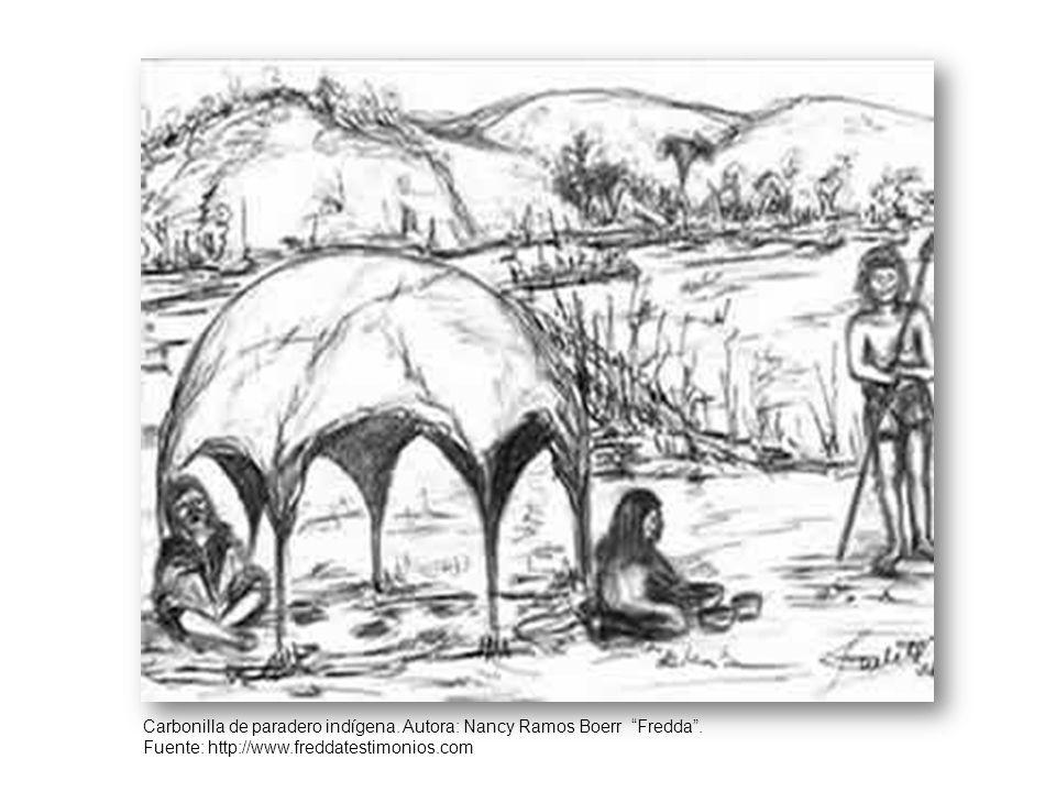 Carbonilla de paradero indígena.Autora: Nancy Ramos Boerr Fredda.