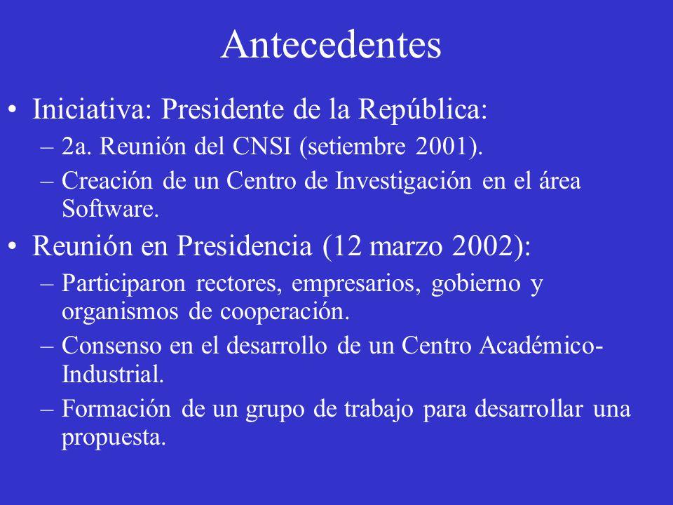 Iniciativa: Presidente de la República: –2a. Reunión del CNSI (setiembre 2001).