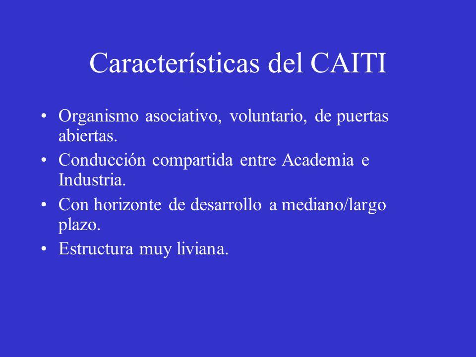Características del CAITI Organismo asociativo, voluntario, de puertas abiertas.