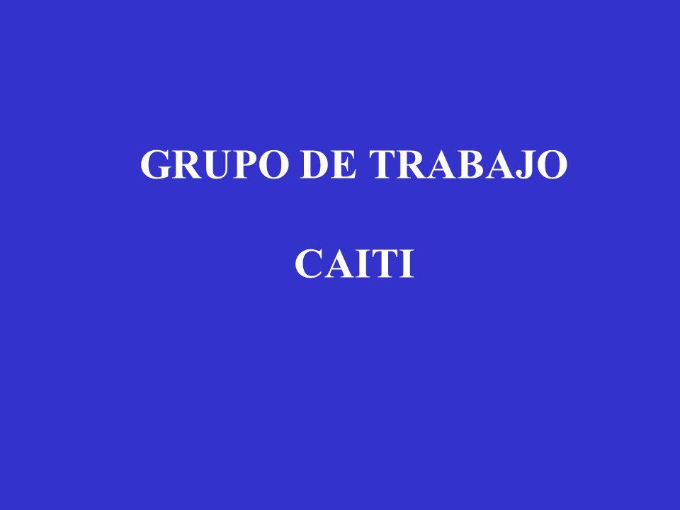 GRUPO DE TRABAJO CAITI