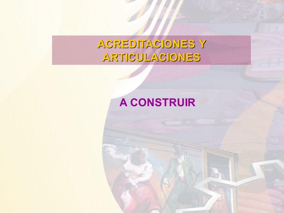ACREDITACIONES Y ARTICULACIONES A CONSTRUIR