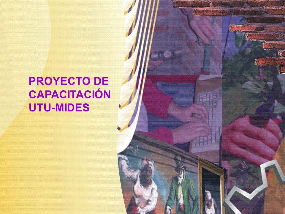 PROYECTO DE CAPACITACIÓN UTU-MIDES