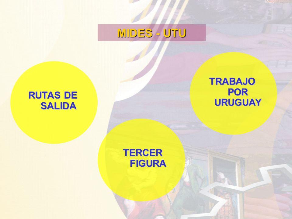 MIDES - UTU RUTAS DE SALIDA TRABAJO POR URUGUAY TERCER FIGURA