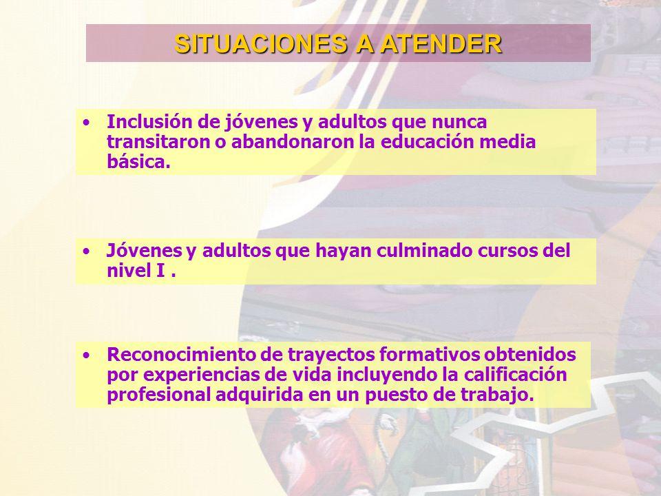 motivar a jóvenes y adultos a incorporarse a estudios más avanzados.