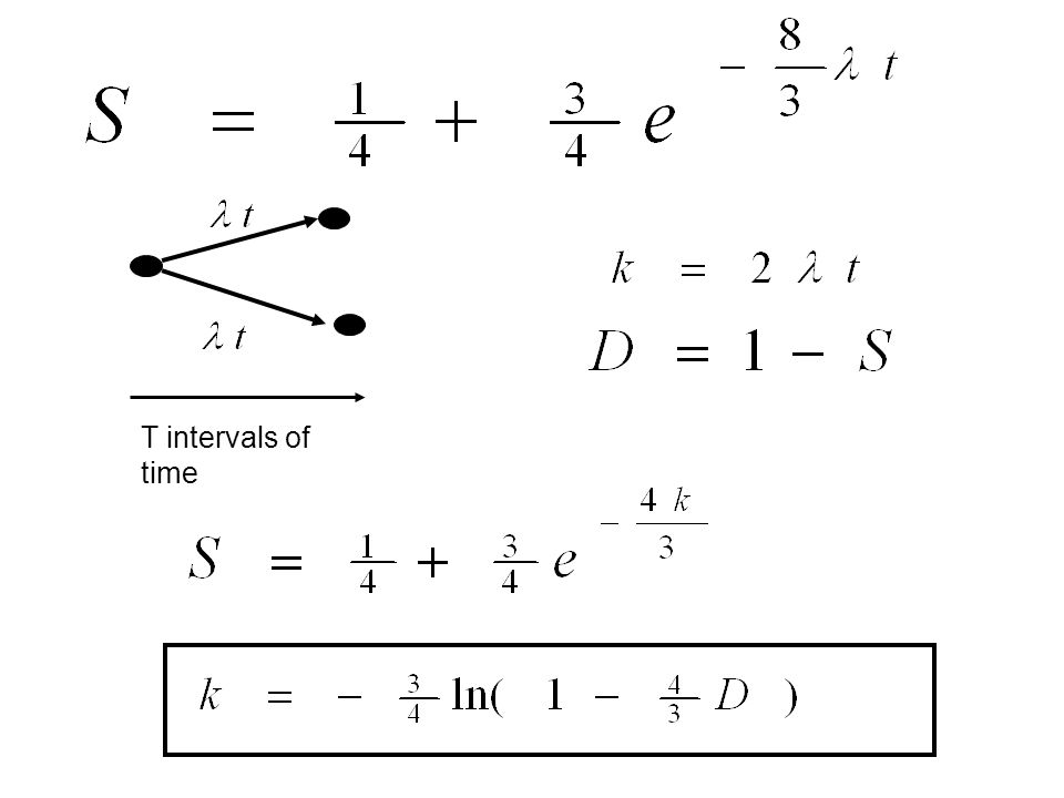 T intervals of time
