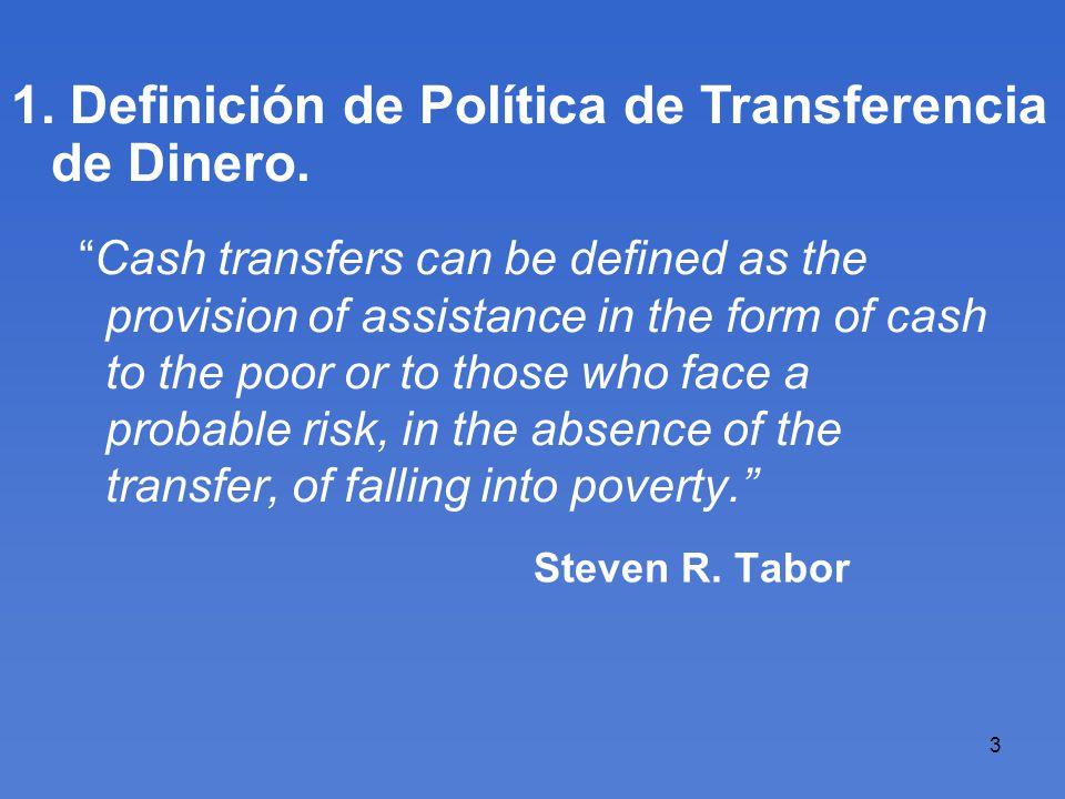 4 Índice Temático 1.Definición de Política de Transferencia.