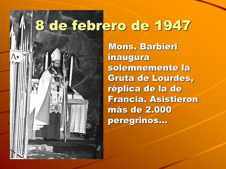 Santuario Nacional Desde entonces, cada 11 la Gruta se ve colmada de peregrinos que vienen de todas partes, del país y del exterior.