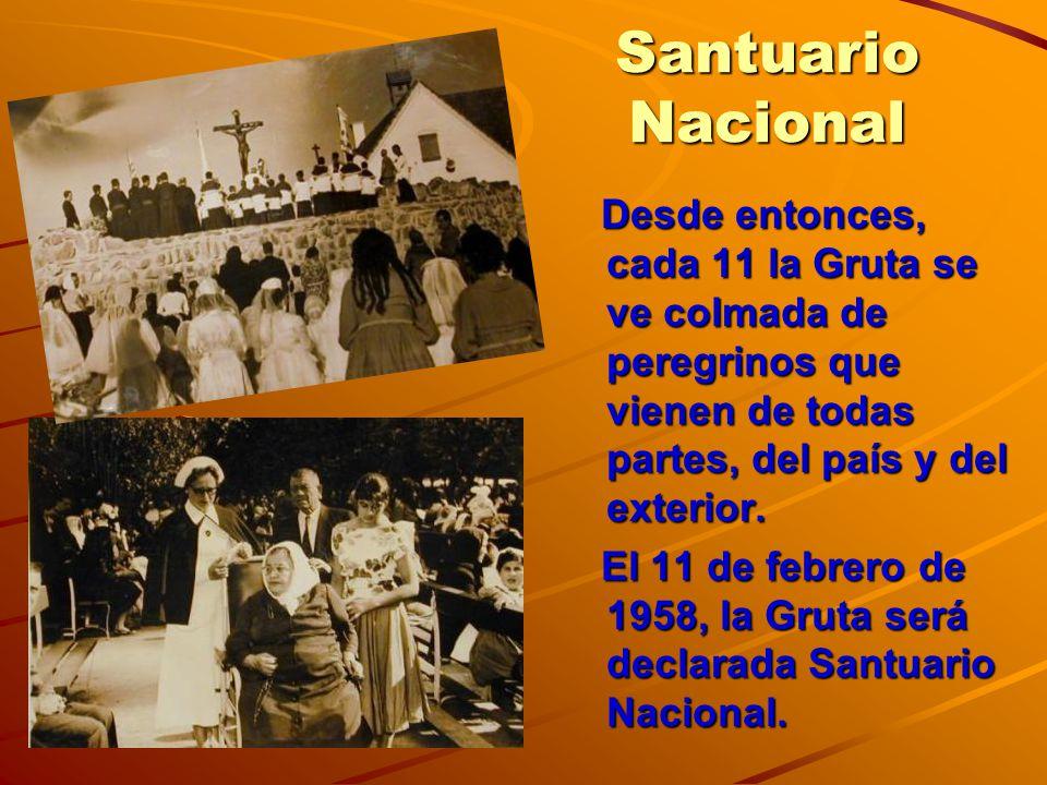 La Gruta hoy El Santuario de la Gruta, atendido por los sacerdotes dehonianos, es el punto de fe de miles de creyentes, que consideran a este remanso, como un don de la Virgen María y de Dios para todo el pueblo uruguayo.
