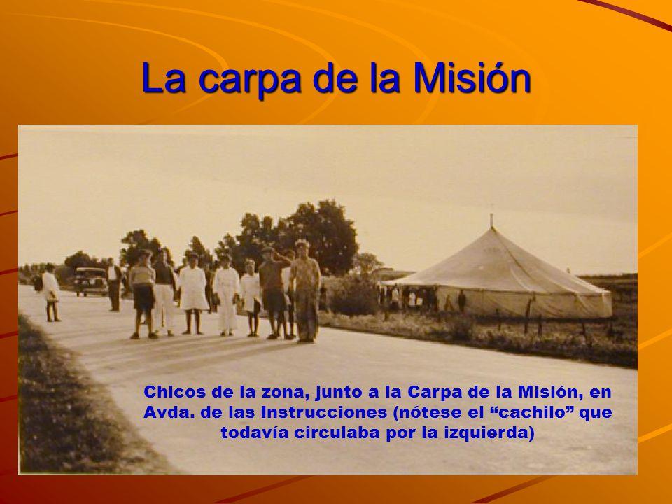 El Día de la inauguración Mire Monseñor, estuvimos trabajando en la Carpa de la Misión durante estos días preparando niños y adultos… Monseñor, gracias por venir a inaugurar nuestra iglesia de El Salvador Quiero darles la bienvenida al Uruguay a usted y a los dehonianos.