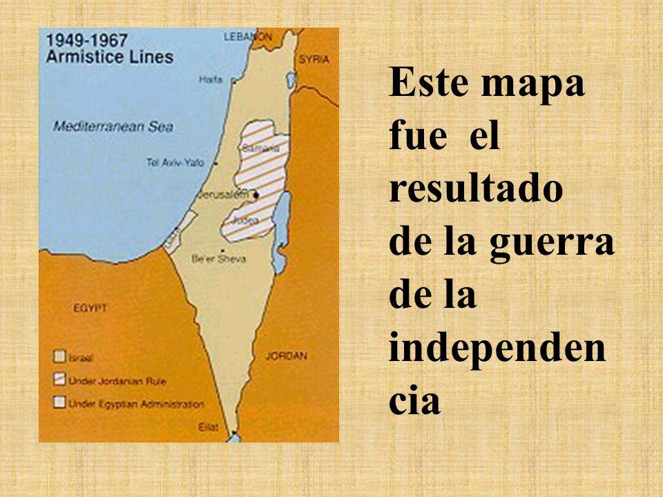 Este es el plan de partición realizado en el año 1947.