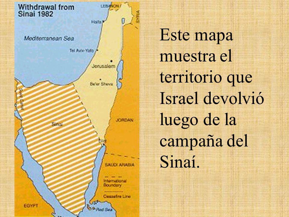 Este mapa fue el resultado de el ataque israelí a los territorios bajo mandato árabe en la guerra de los 6 días debido a la fragilidad de su frontera.