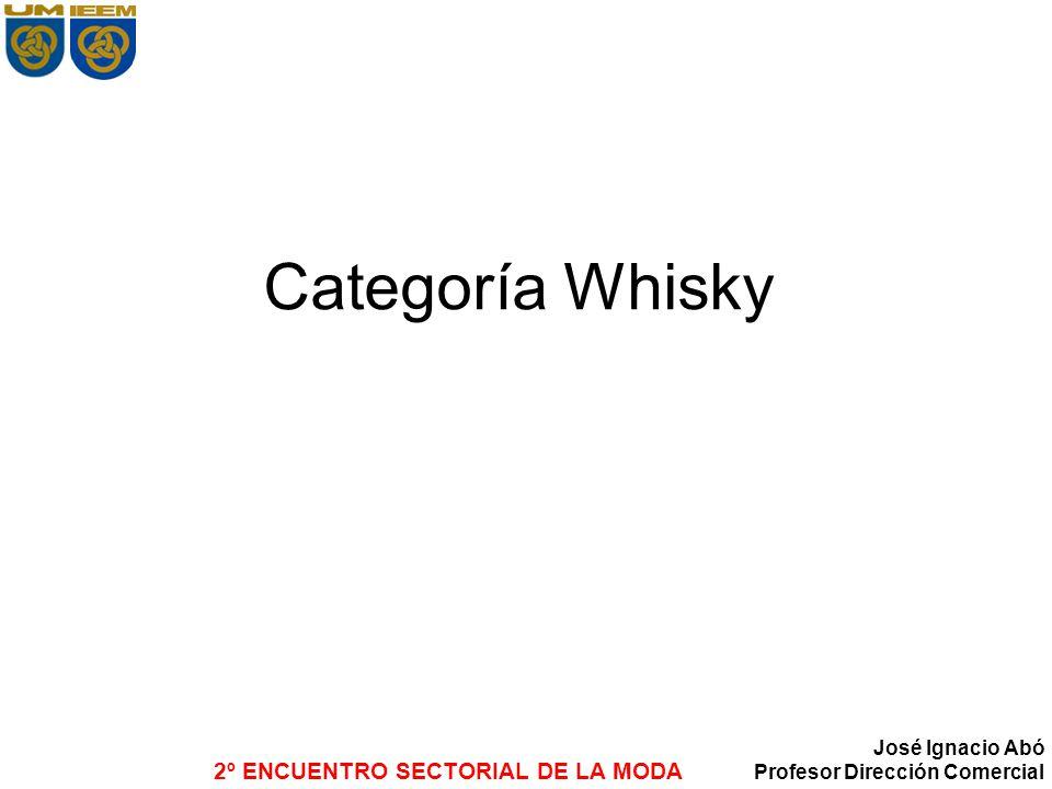 2º ENCUENTRO SECTORIAL DE LA MODA José Ignacio Abó Profesor Dirección Comercial Categoría Whisky
