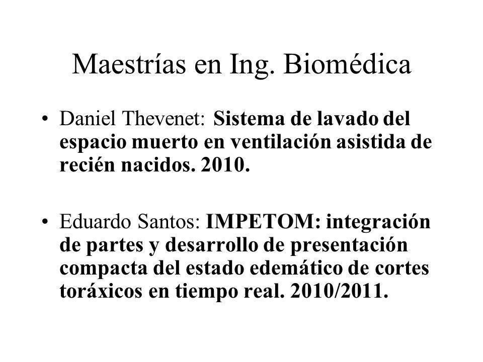 Maestrías en Ing. Biomédica Daniel Thevenet: Sistema de lavado del espacio muerto en ventilación asistida de recién nacidos. 2010. Eduardo Santos: IMP