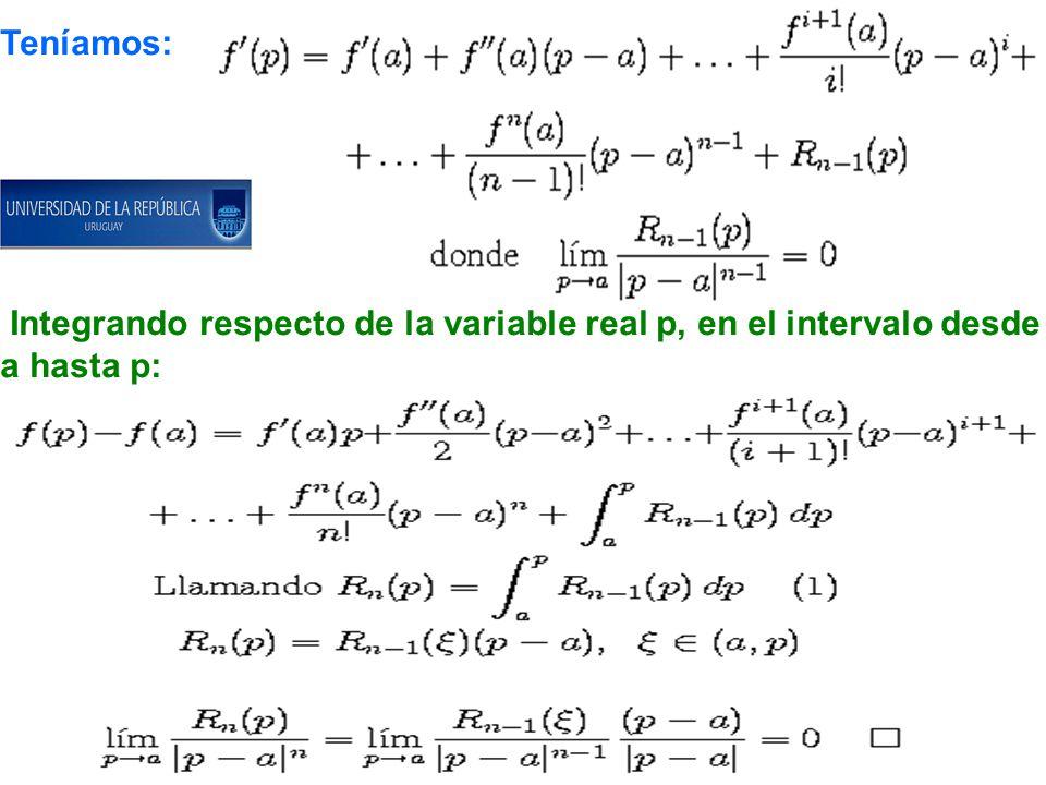 Dem.de la fórmula de Lagrange en una variable: Por inducción completa en n.