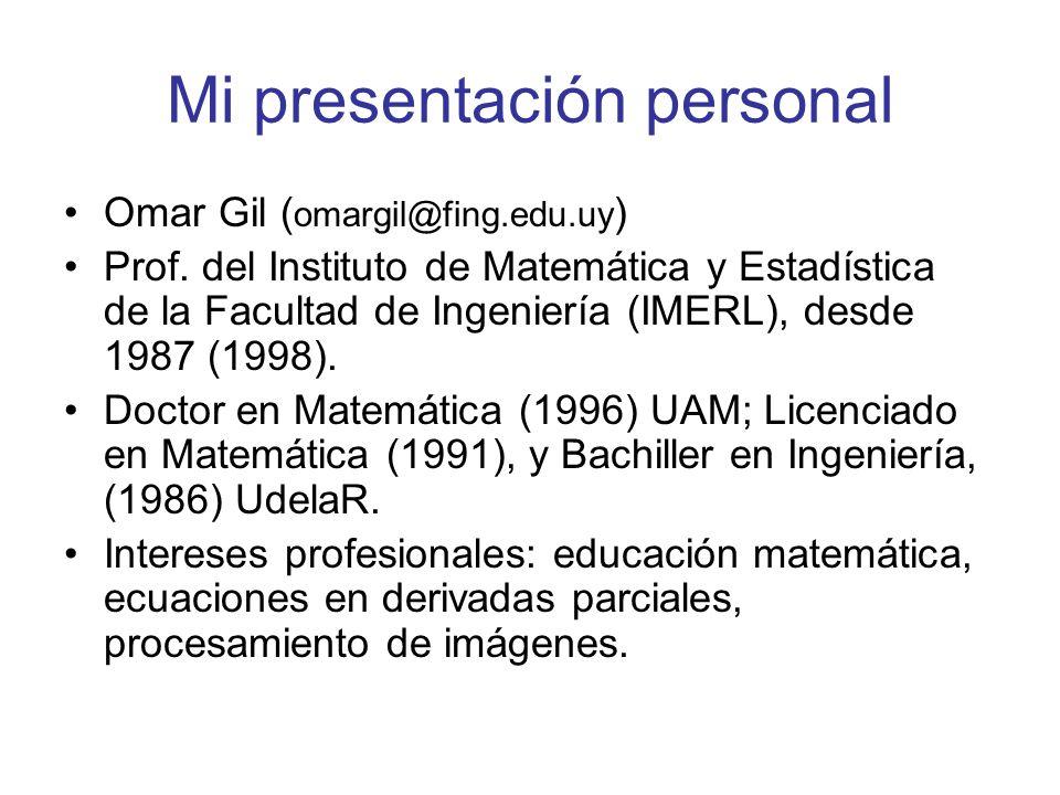 Algunas cosas que quiero contarles Ingresé a la Facultad de Ingeniería en 1983.