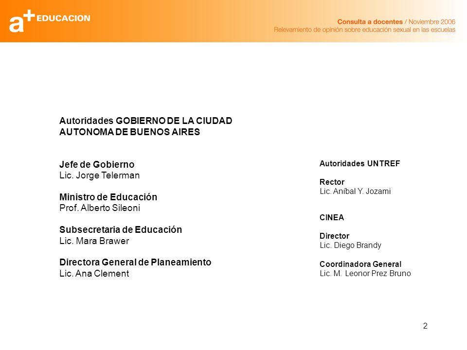 2 Autoridades GOBIERNO DE LA CIUDAD AUTONOMA DE BUENOS AIRES Jefe de Gobierno Lic.