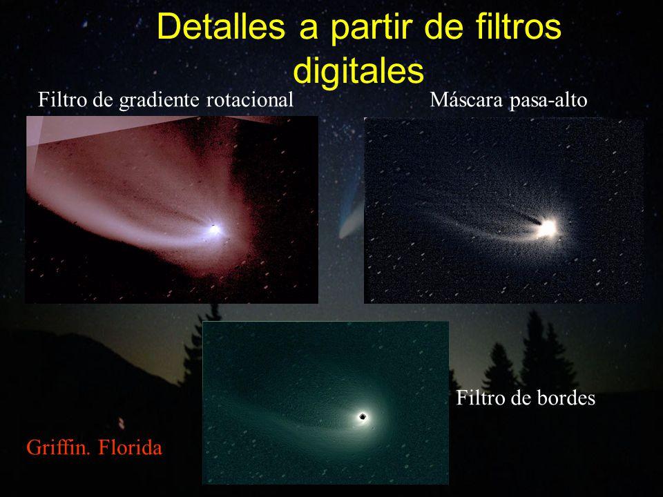 Detalles a partir de filtros digitales Filtro de gradiente rotacionalMáscara pasa-alto Filtro de bordes Griffin. Florida