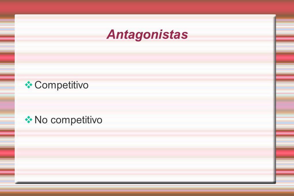Antagonistas Competitivo No competitivo