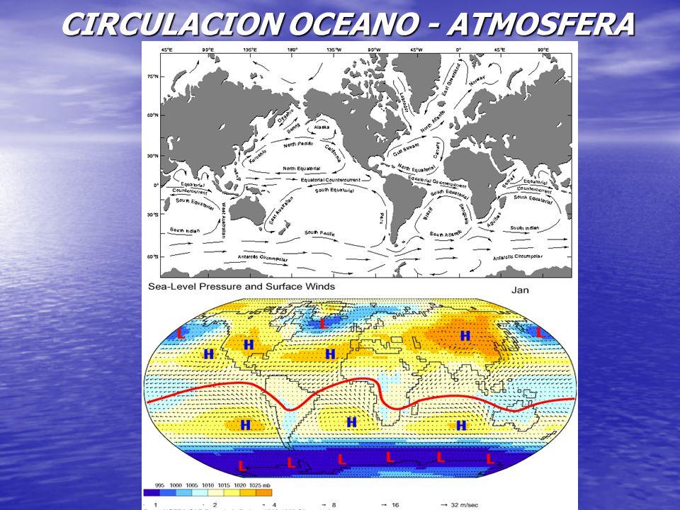 CIRCULACION OCEANO - ATMOSFERA