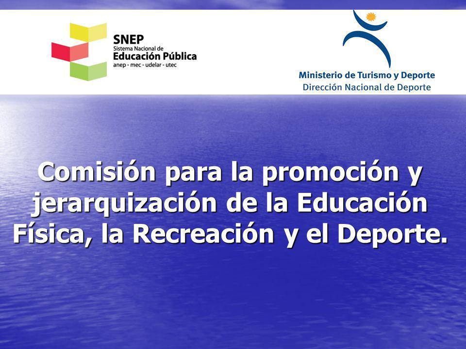 Comisión para la promoción y jerarquización de la Educación Física, la Recreación y el Deporte.
