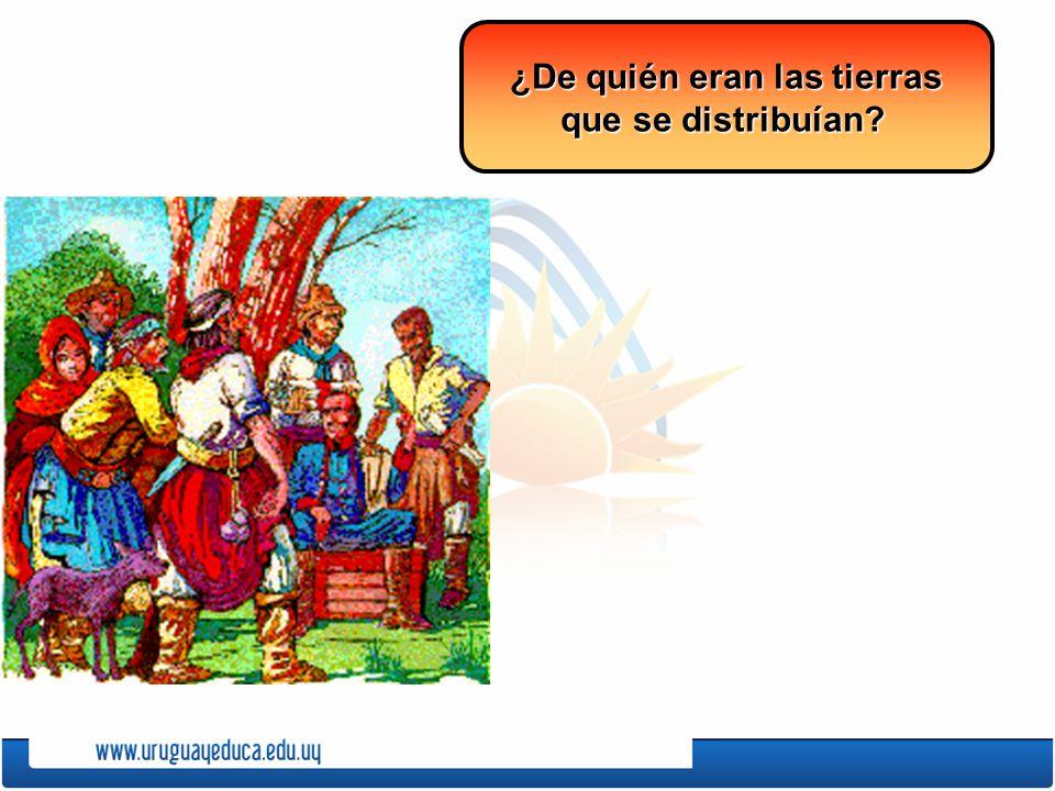 ¿De quién eran las tierras que se distribuían?