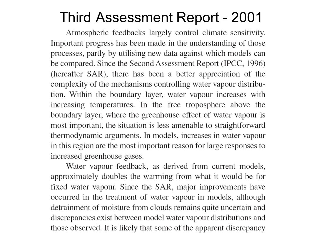Third Assessment Report - 2001