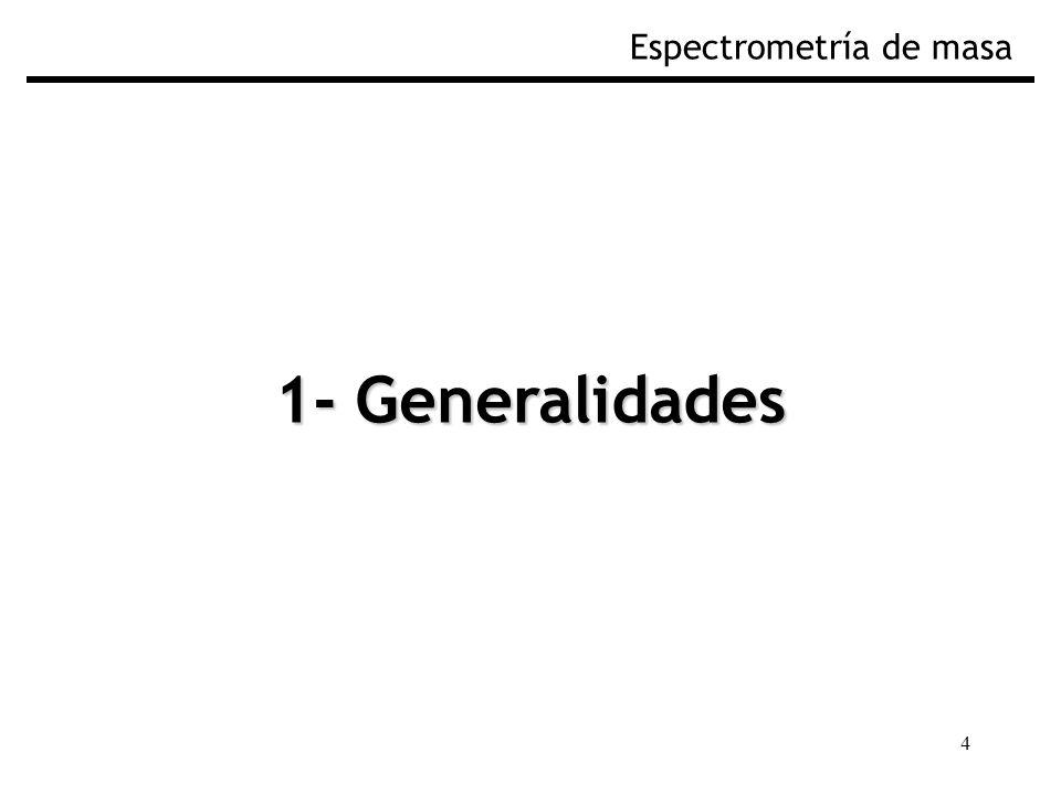 4 1- Generalidades Espectrometría de masa
