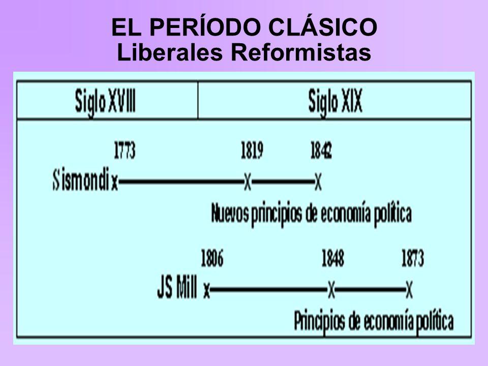 EL PERÍODO CLÁSICO Liberales Reformistas