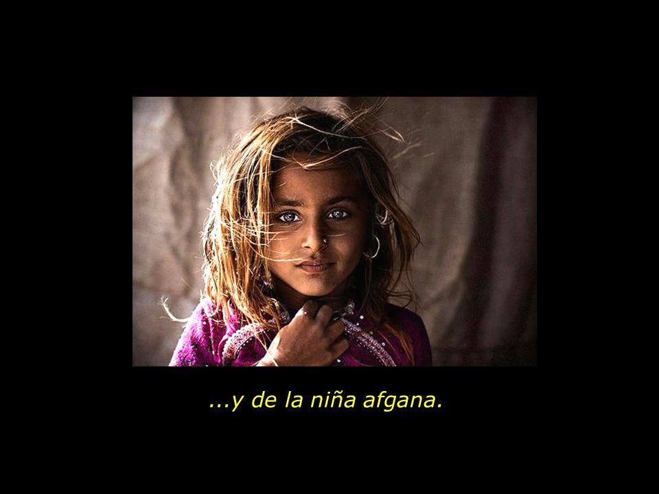 ...y de la niña afgana.