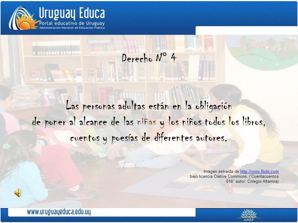 Imagen extraída de http://www.flickr.comhttp://www.flickr.com bajo licencia Cretive Commons, (Cuentacuentos 014 autor: Colegio Altamira)