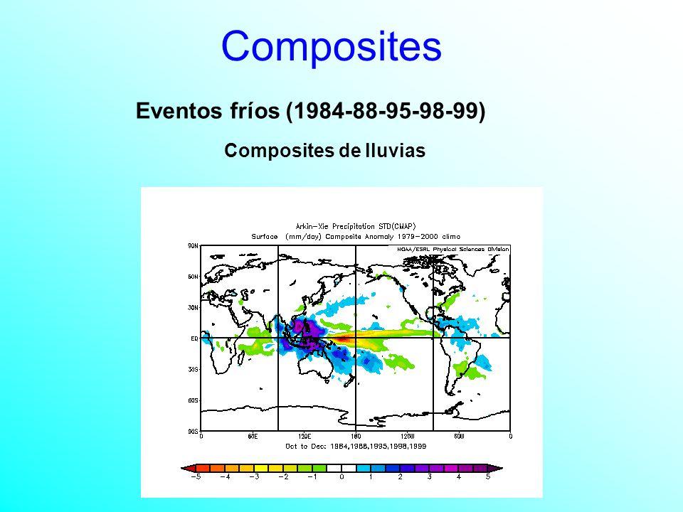 Composites Eventos fríos (1984-88-95-98-99) Composites de lluvias