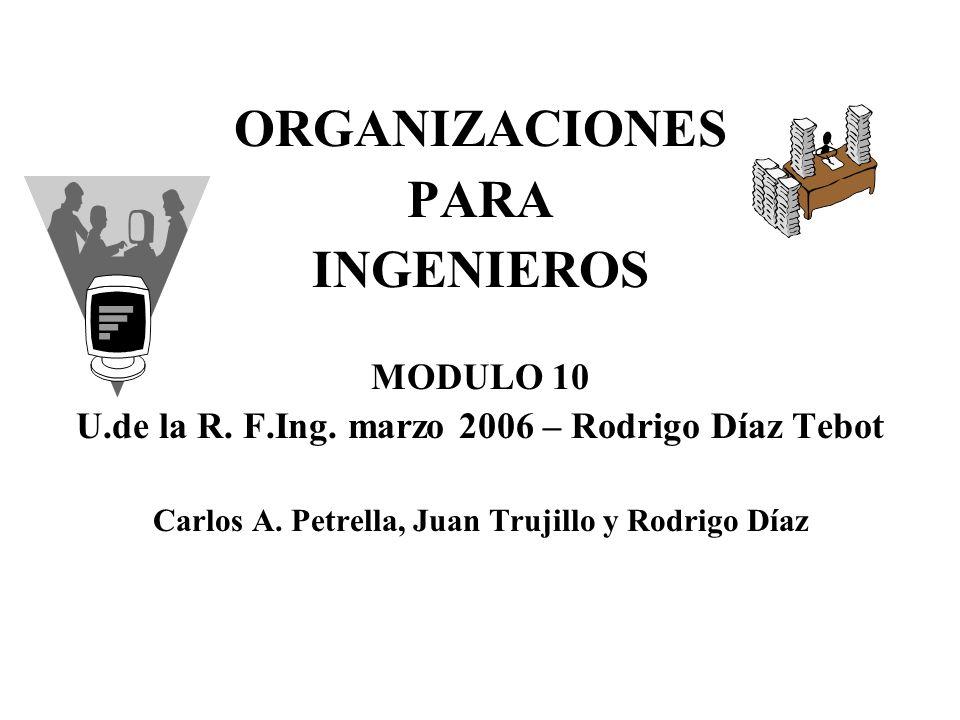 ORGANIZACIONES PARA INGENIEROS MODULO 10 U.de la R.