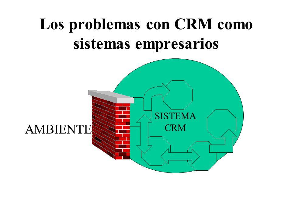 Los problemas con CRM como sistemas empresarios AMBIENTE SISTEMA CRM