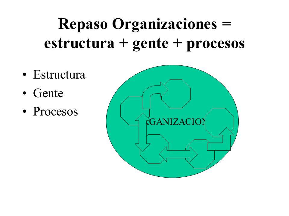 Conceptualización del problema La organización como sistema toma insumos del medio externo.