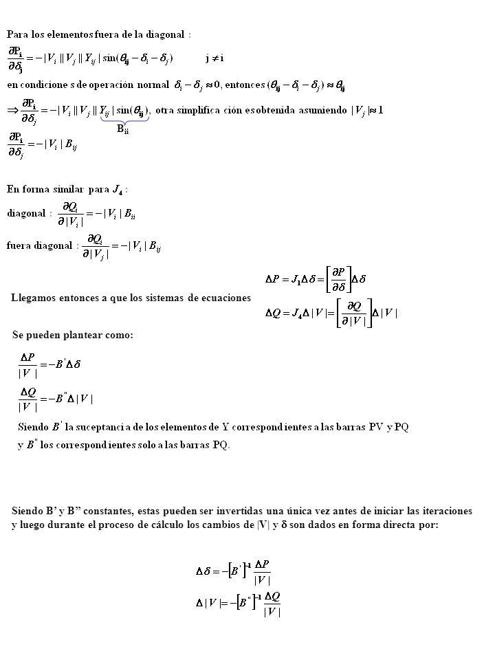 B ii Llegamos entonces a que los sistemas de ecuaciones Se pueden plantear como: Siendo B y B constantes, estas pueden ser invertidas una única vez an