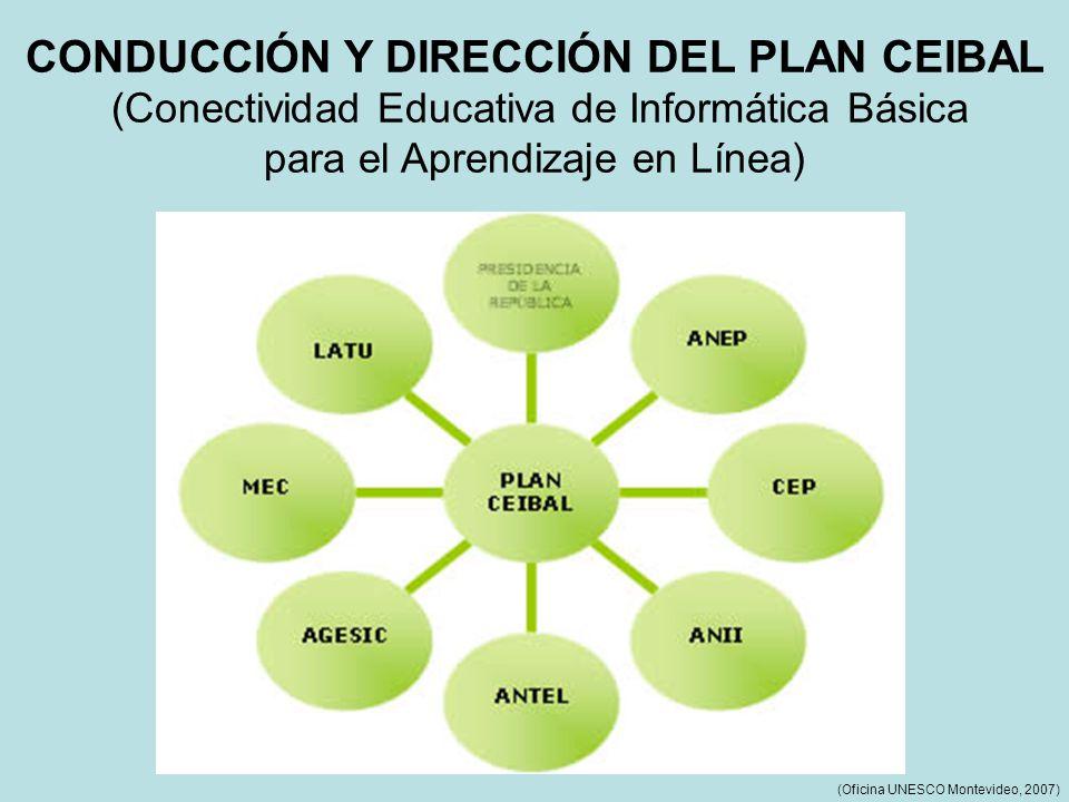 CONDUCCIÓN Y DIRECCIÓN DEL PLAN CEIBAL (Conectividad Educativa de Informática Básica para el Aprendizaje en Línea) (Oficina UNESCO Montevideo, 2007)